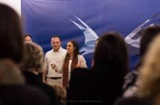 """Pedro Almeida Maia com Suzana Nunes Caldeira. Lançamento de """"O Primeiro Dia de Aulas"""". Portas do Mar, Ponta Delgada, Açores."""