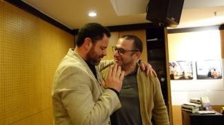 Pedro Almeida Maia com Joel Neto, na FNAC NorteShopping, Porto. Fotografia de Ana Loura.