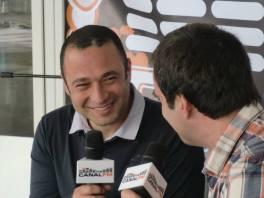 Pedro Almeida Maia na Rádio Canal FM, com Miguel Valério. Ponta Delgada, Açores.