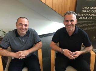 Pedro Almeida Maia e José Luís Peixoto no 32.º Colóquio da Lusofonia (Santa Cruz da Graciosa)